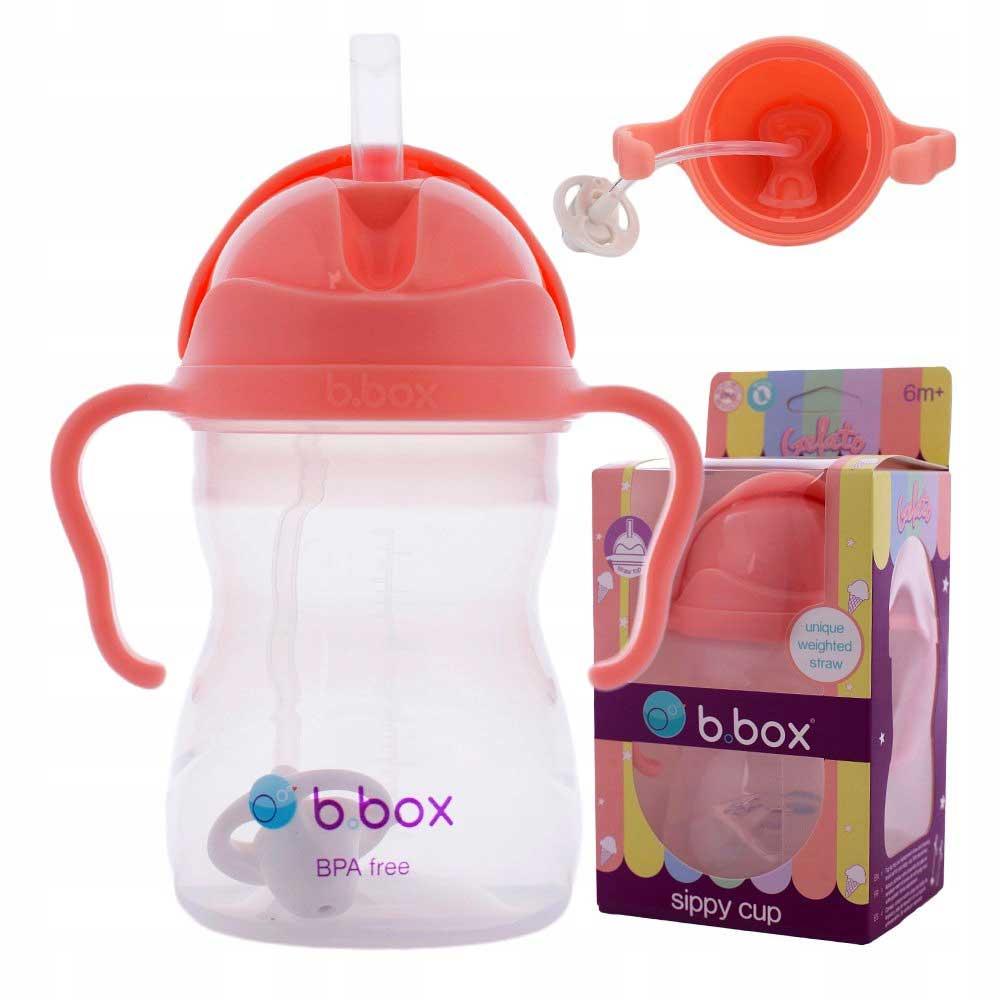 B.BOX Bidon kubek ze słomką PASTELOWY 240 ml bbox