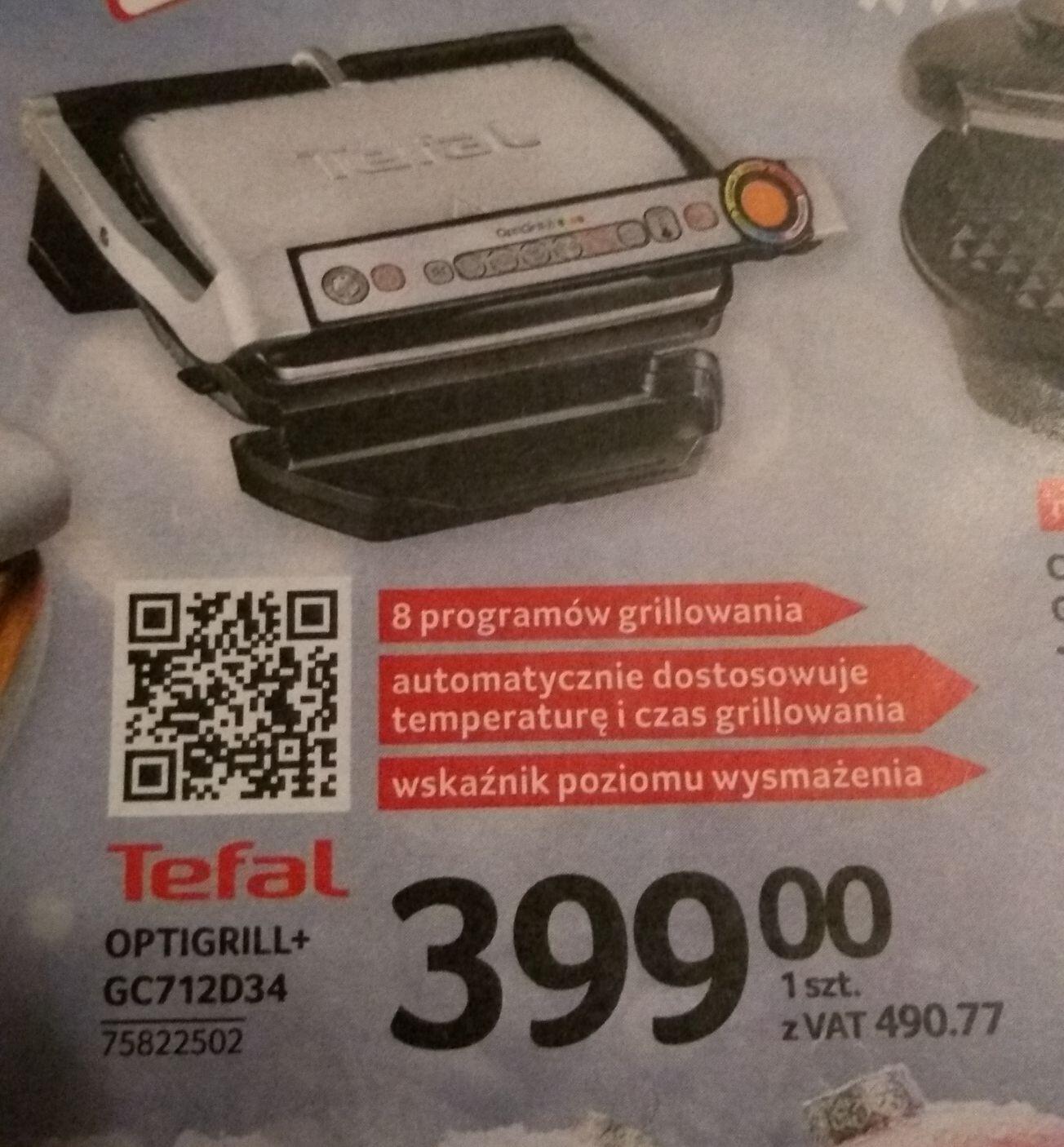 Tefal Optigrill+ GC712D34 w Selgros
