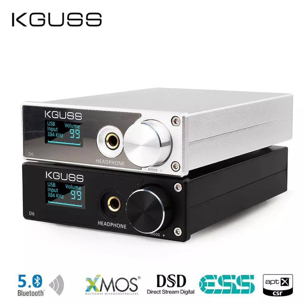 DAC KGUSS D6 XMOS ES9018K2M DSD 256 APT-X wzmacniacz słuchawkowy 125$