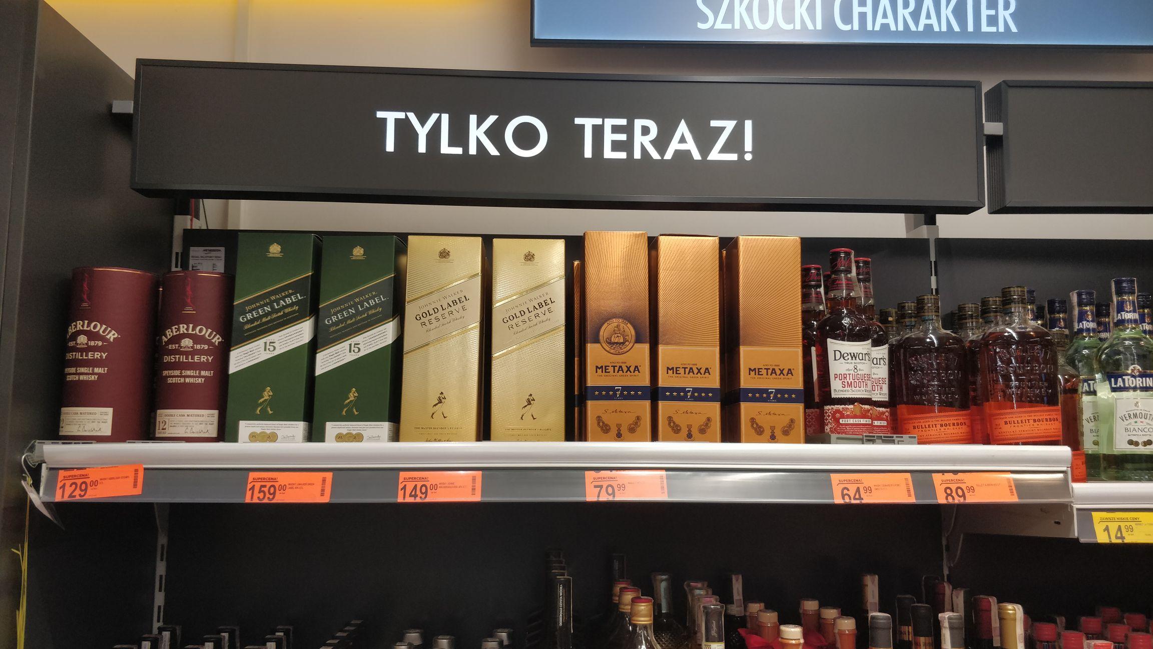 Szkocka Whisky Biedronka Wrocław