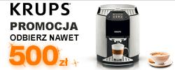 Kup ekspres do kawy marki Krups, a otrzymasz zwrot nawet do 500zł @ RTV Euro AGD