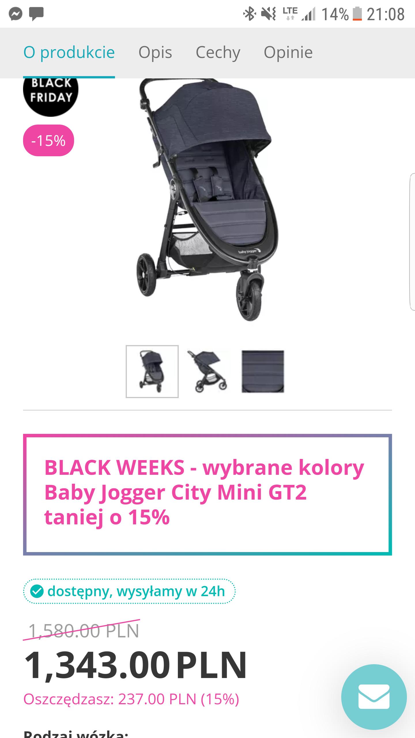 Tomi.pl wybrane kolory Baby Jogger City Mini GT2 taniej o 15%
