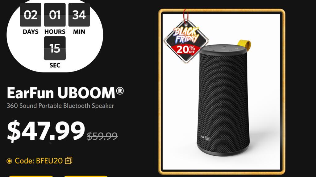 Głośnik BT Earfun UBoom 48$