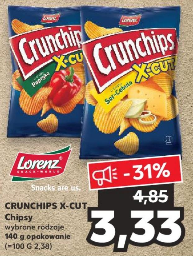 Chipsy Crunchips X-cut wybrane rodzaje 140g. w Kaufland