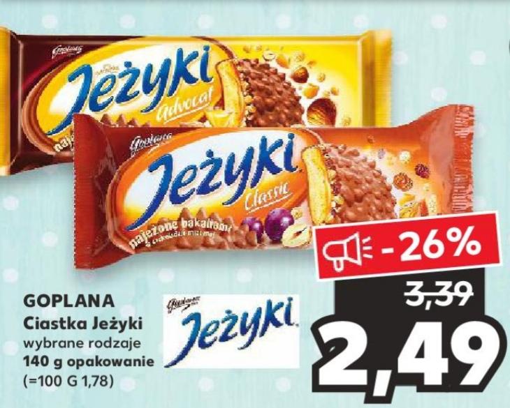 Ciastka Jeżyki Goplana 140 g. wybrane rodzaje w Kaufland