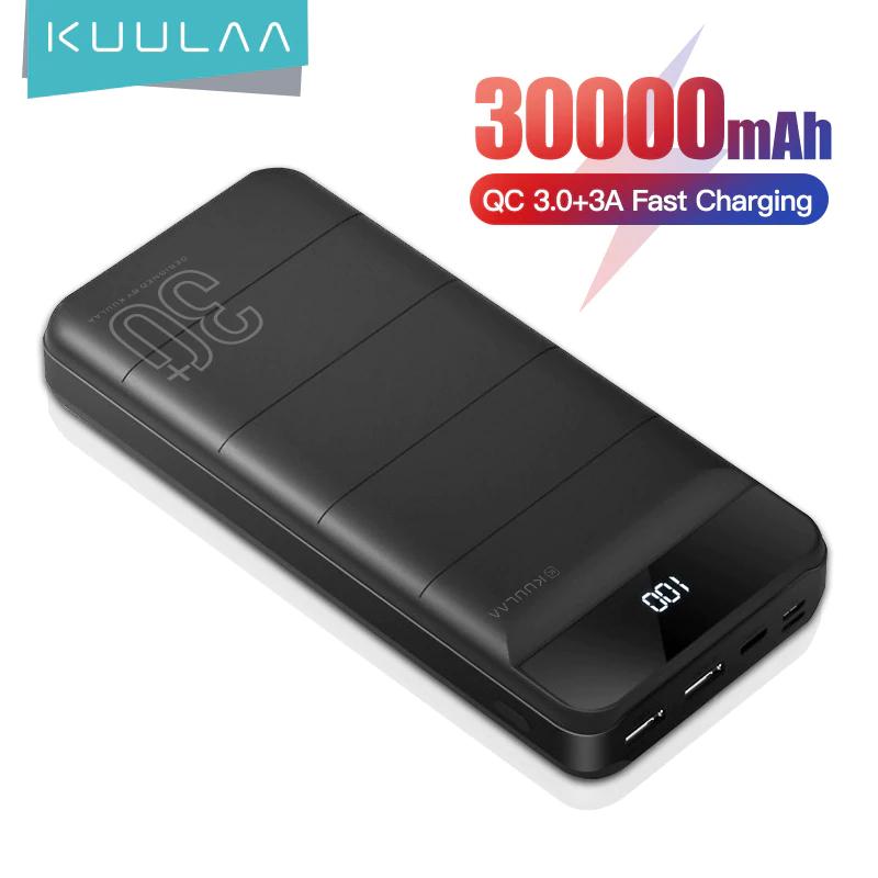 KUULAA Power Bank 30000 mAh QC 3.0 PD 18W z Chin US $19.99