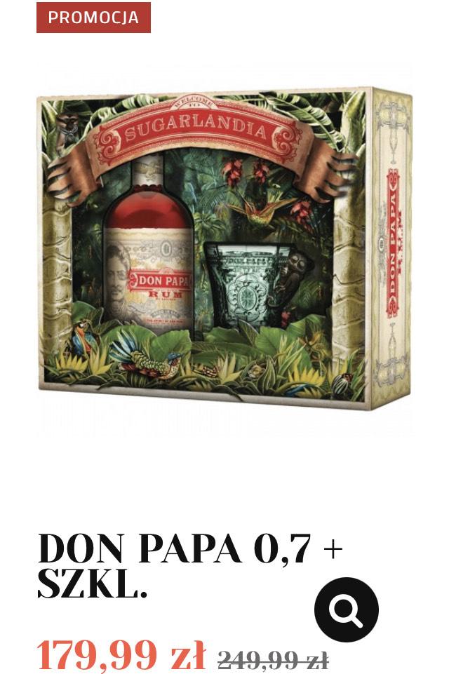 Rum Don Papa 0,7L + szklanka - Alkooutlet
