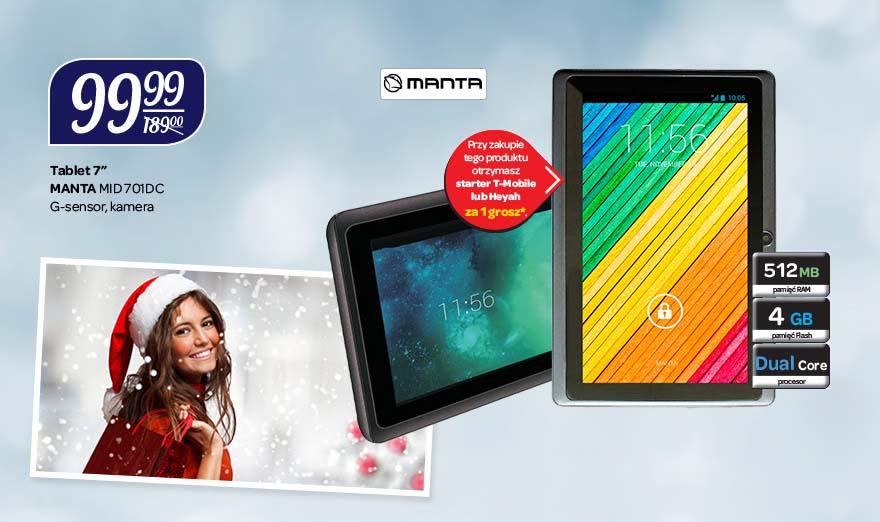 Tablet Manta MID701DC za 99zł @ Carrefour