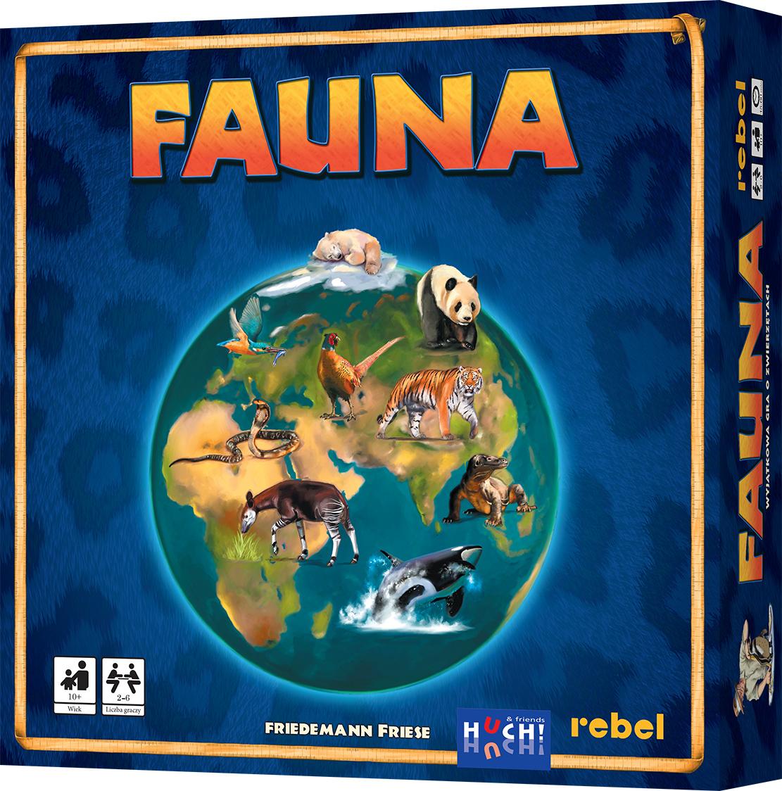 Fauna - Gra planszowa, edukacyjna, rodzinna [druga edycja] polska