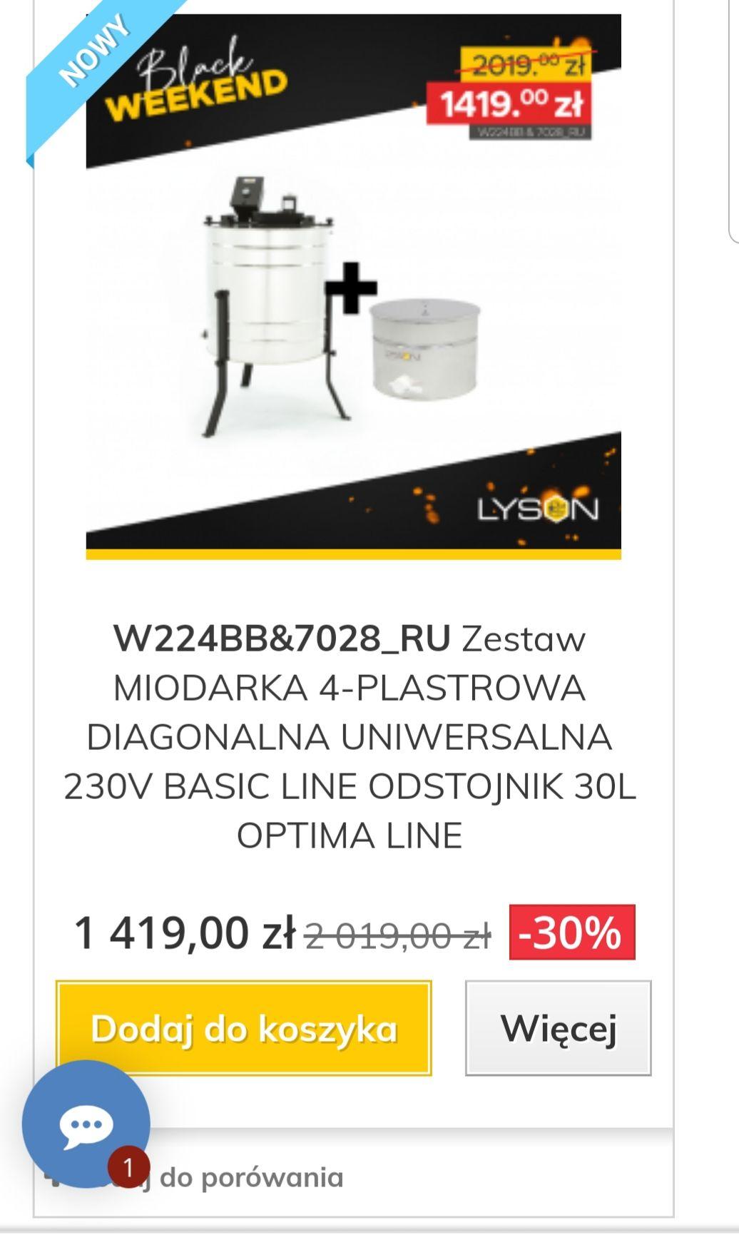 Miodarka 4-plastrowa uniwersalna 230V Basic line