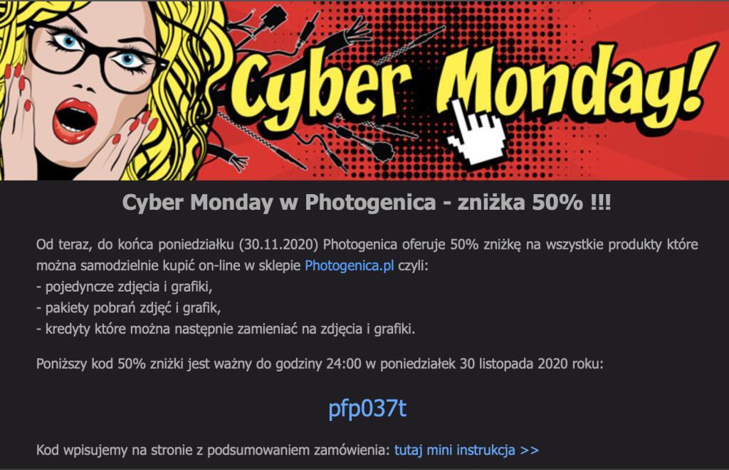 Cyber Monday w Photogenica 50% rabat