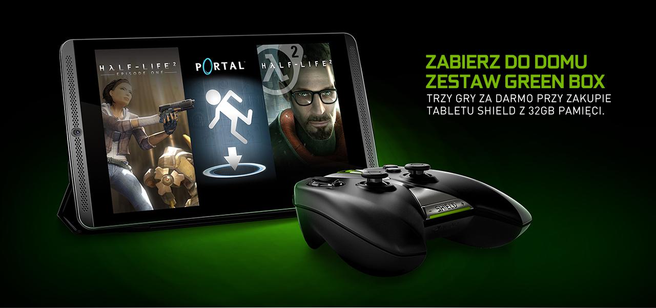 Trzy gry za DARMO przy zakupie tabletu Shield 32GB (Half-Life 2: Episode 1, Half-Life 2 i Portal) @ Nvidia