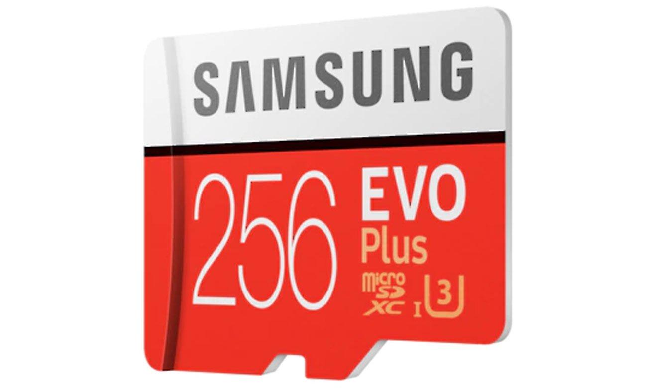 Samsung 256GB microSDXC Evo Plus zapis 90MB/s odczyt 100MB/s