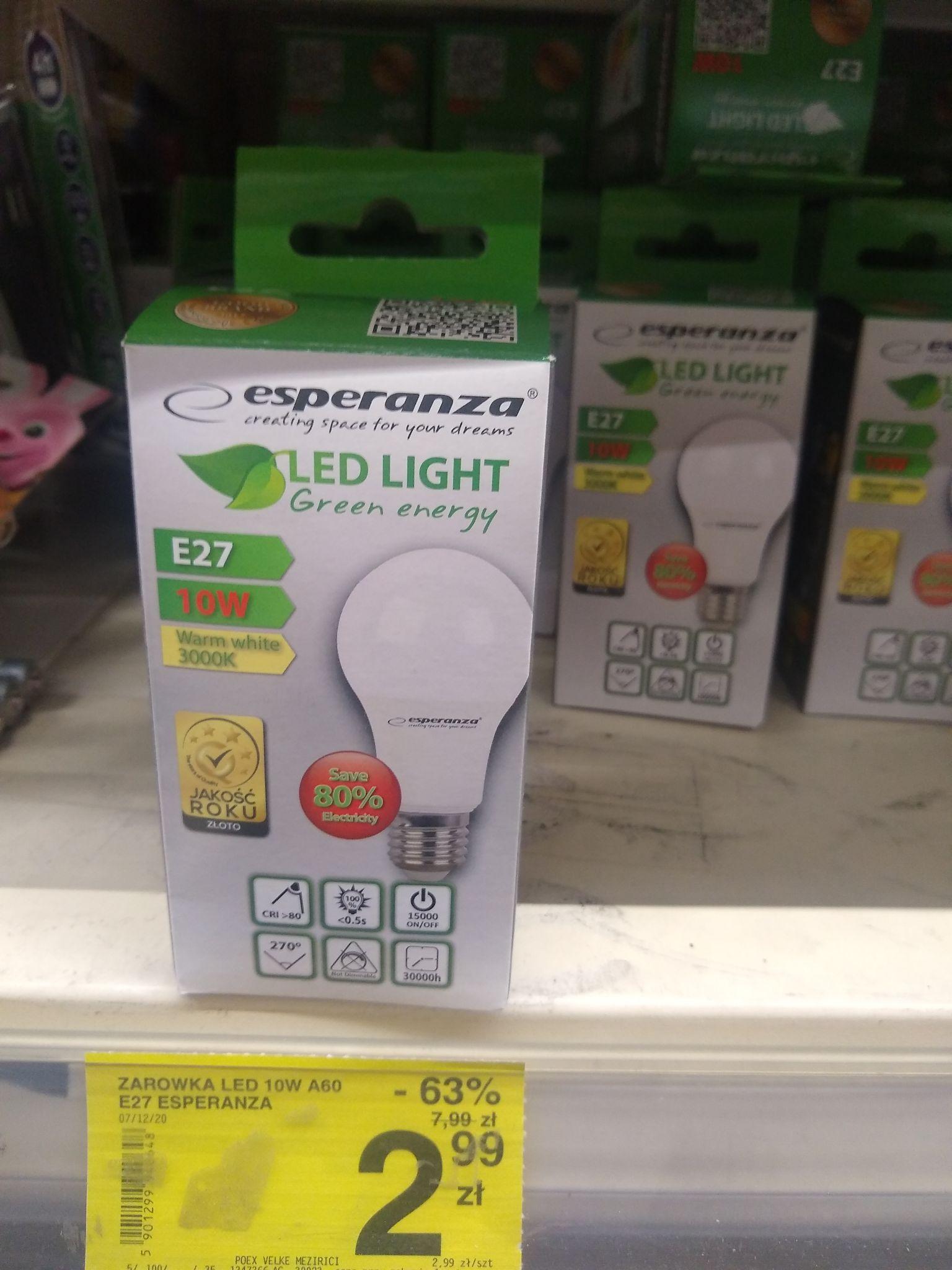 Żarówka Esperanza LED 10w e27 840lm 3000K ciepła barwa Carrefour
