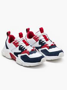"""Tommy Hilfiger """"Chunky Material Mix Sneaker"""" RWB"""