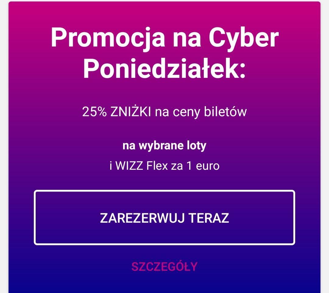 Wizzair flex za 5 PLN + 25% rabatu na wybrane połączenia