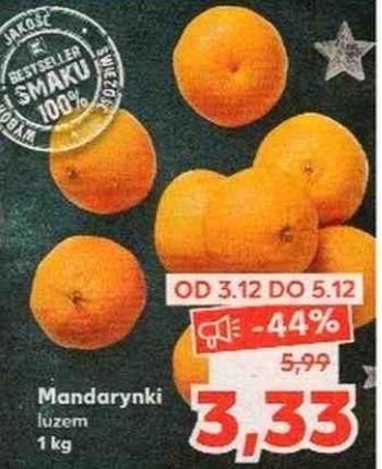 Mandarynki 3,33zł/kg w Kaufland