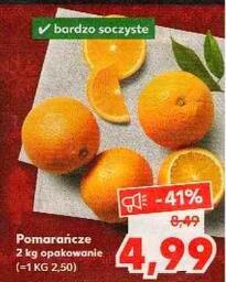 Pomarańcze 2 kg opak. (2,50 zł/kg) @Kaufland