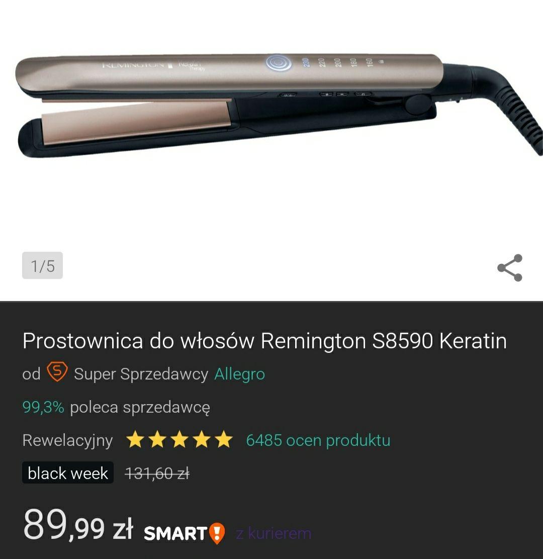 Prostownica do włosów Remington S8590 Keratin