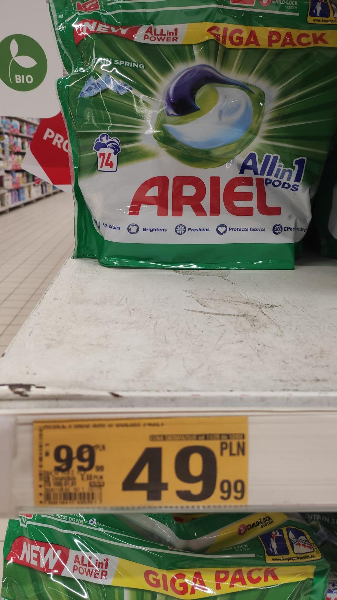 Kapsułki Ariel Allin1 Pods Auchan Wwa
