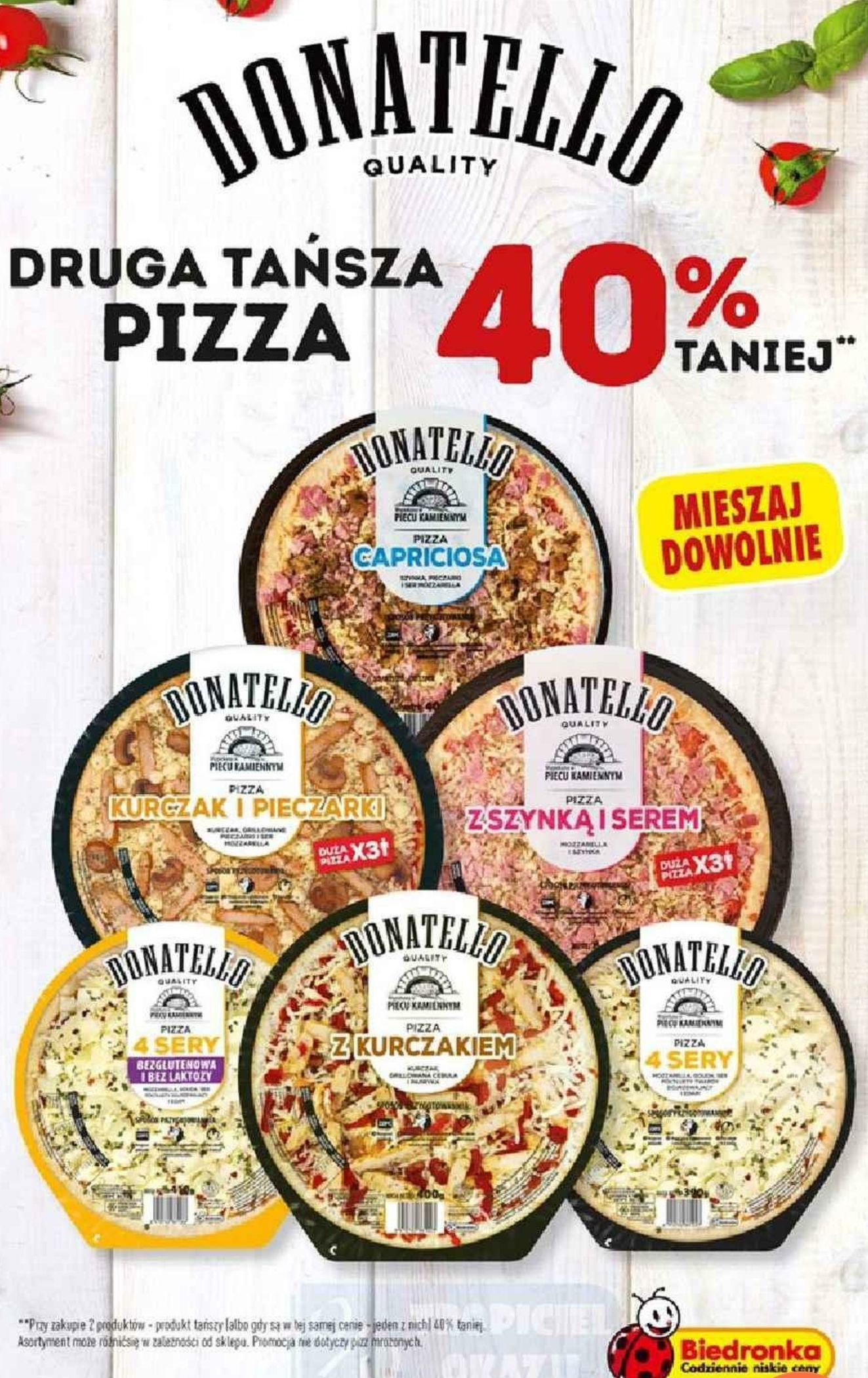 Biedronka. Pizza Donatello - druga 40% taniej