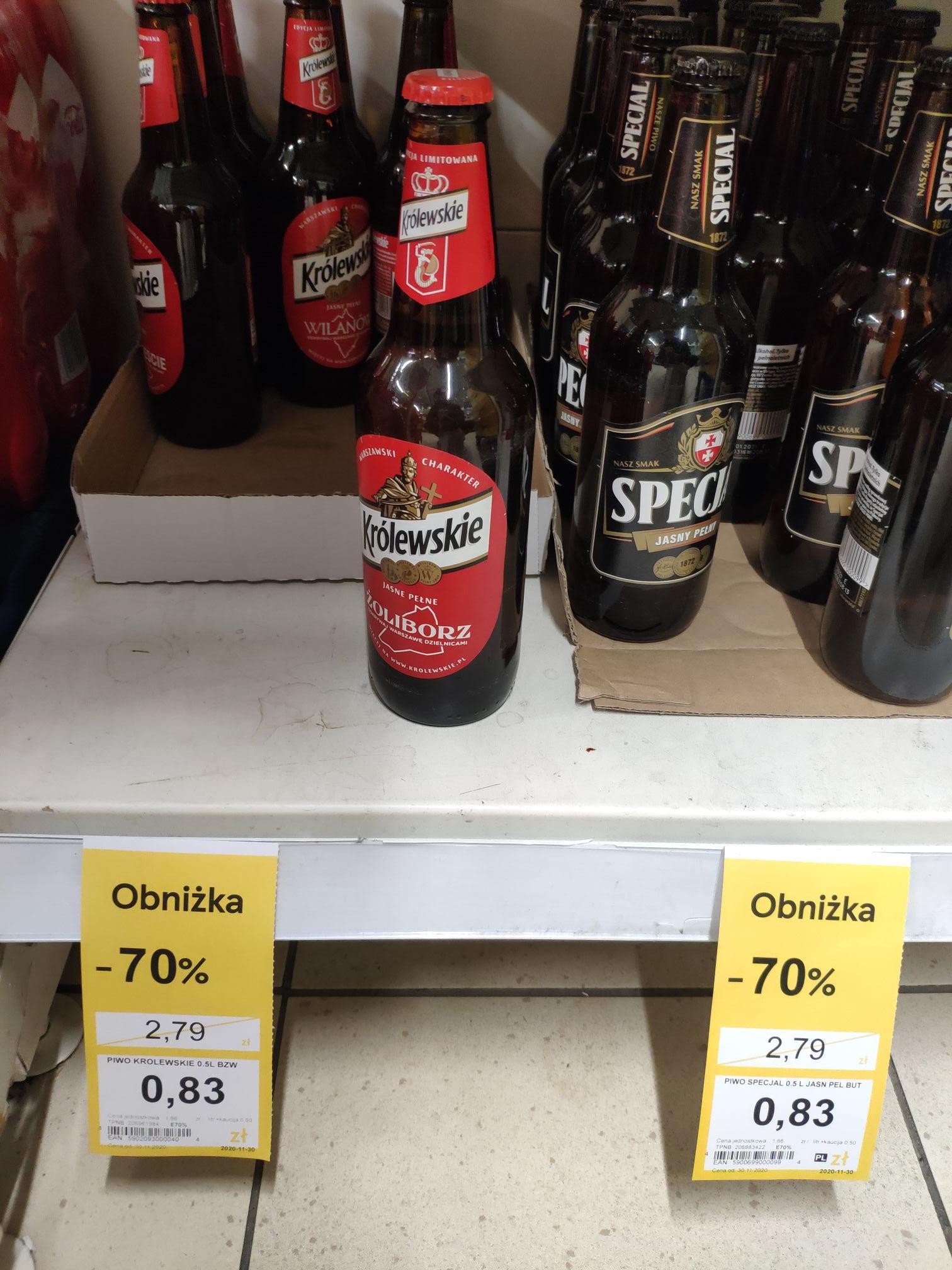 Piwo Królewskie i Specjal Tesco