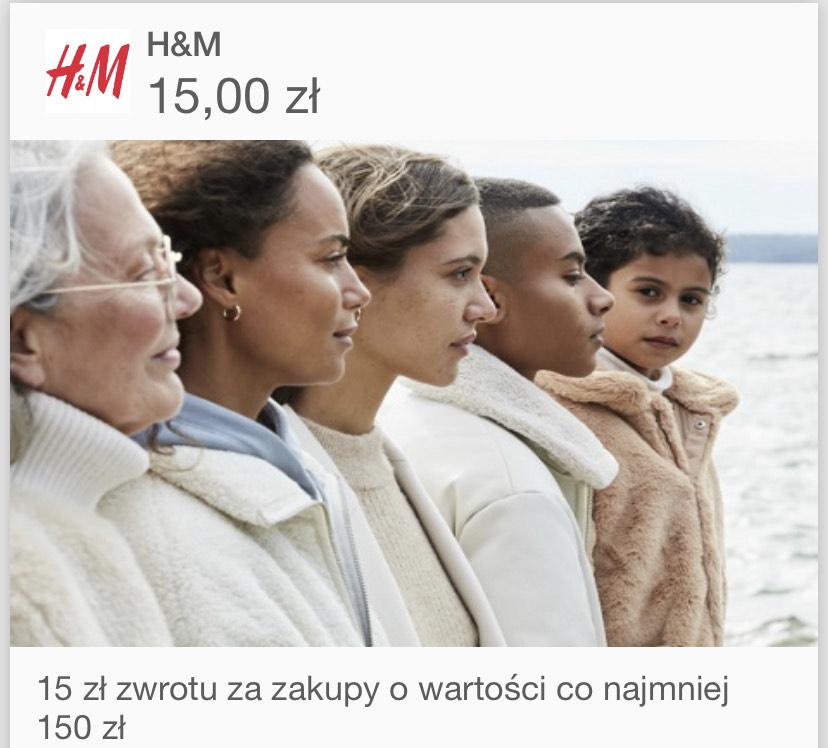 H&m -15 zł @Visaoferty MWZ 150zł łączy się ze wszystkimi promocjami HM