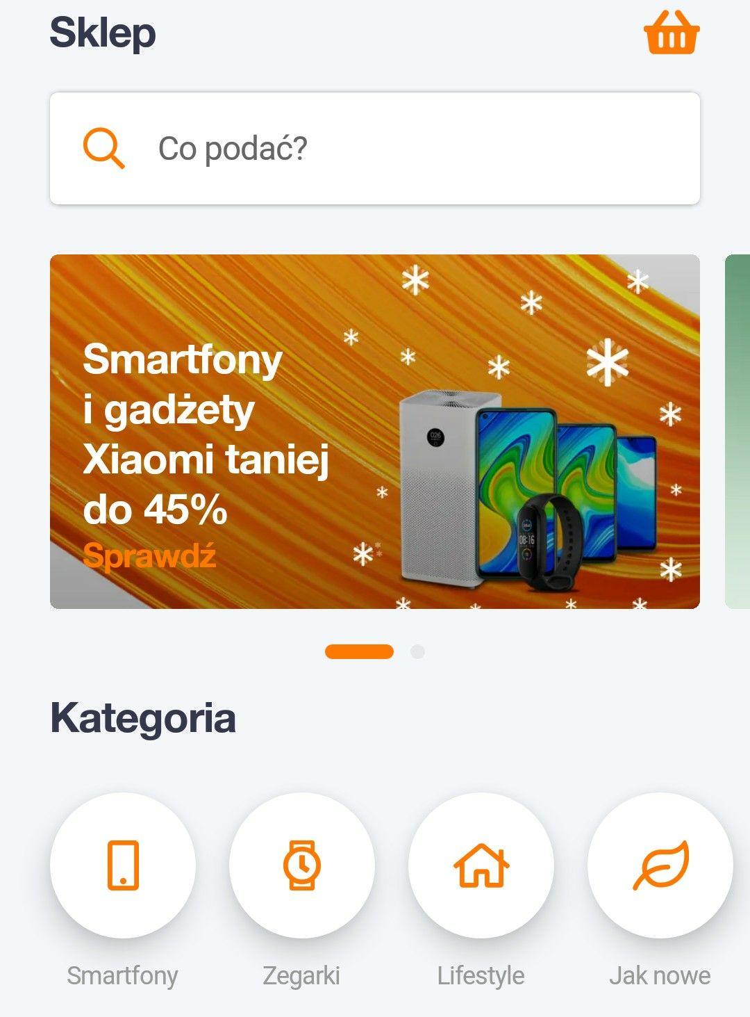 Sklep w Aplikacji Orange Flex - do 45% taniej - Xiaomi