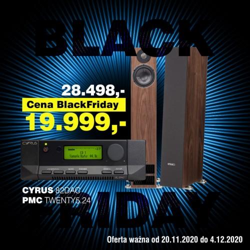 ZESTAW - WZMACNIACZ ZINTEGROWANY I DAC - CYRUS 8.2 DAC + KOLUMNY PODŁOGOWE - PMC TWENTY5.24 BLACK FRIDAY