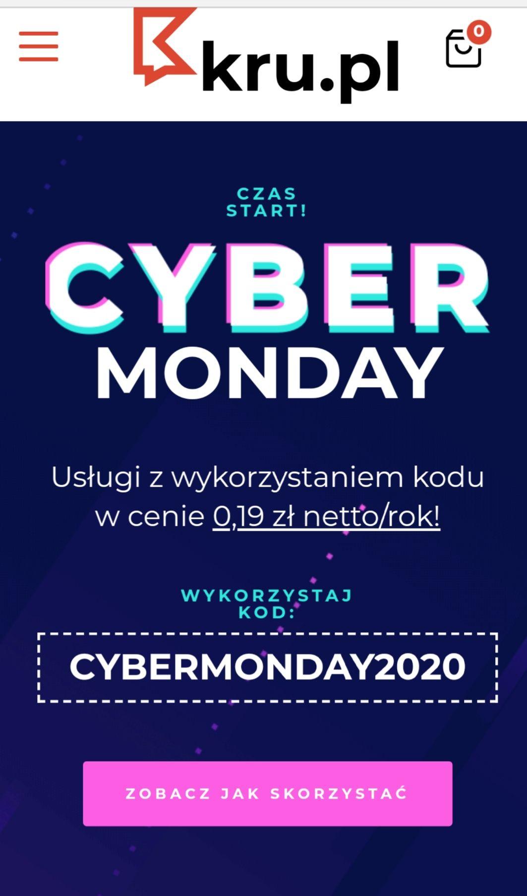 Domena lub Hosting kru.pl za 0.19zl / rok