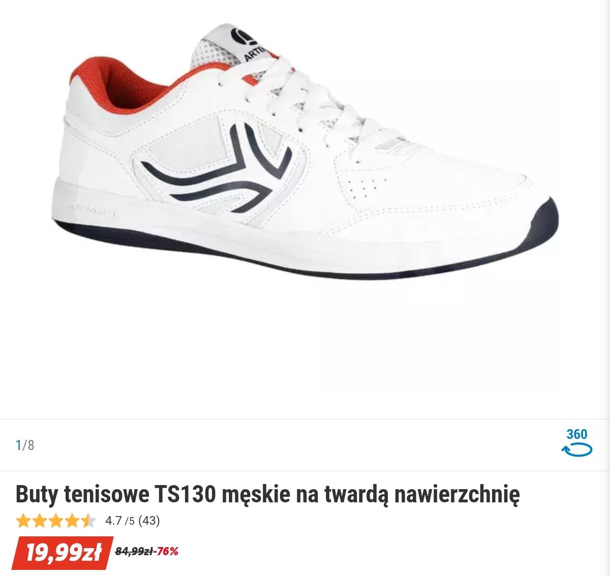Buty tenisowe TS130 męskie na twardą nawierzchnię Rozmiar 48 oraz dostępność mniejszych w sklepach