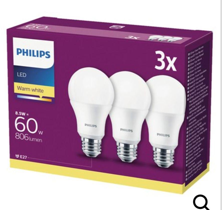 Zestaw 3 żarówek Philips E27, 806 lm, 8,5 W