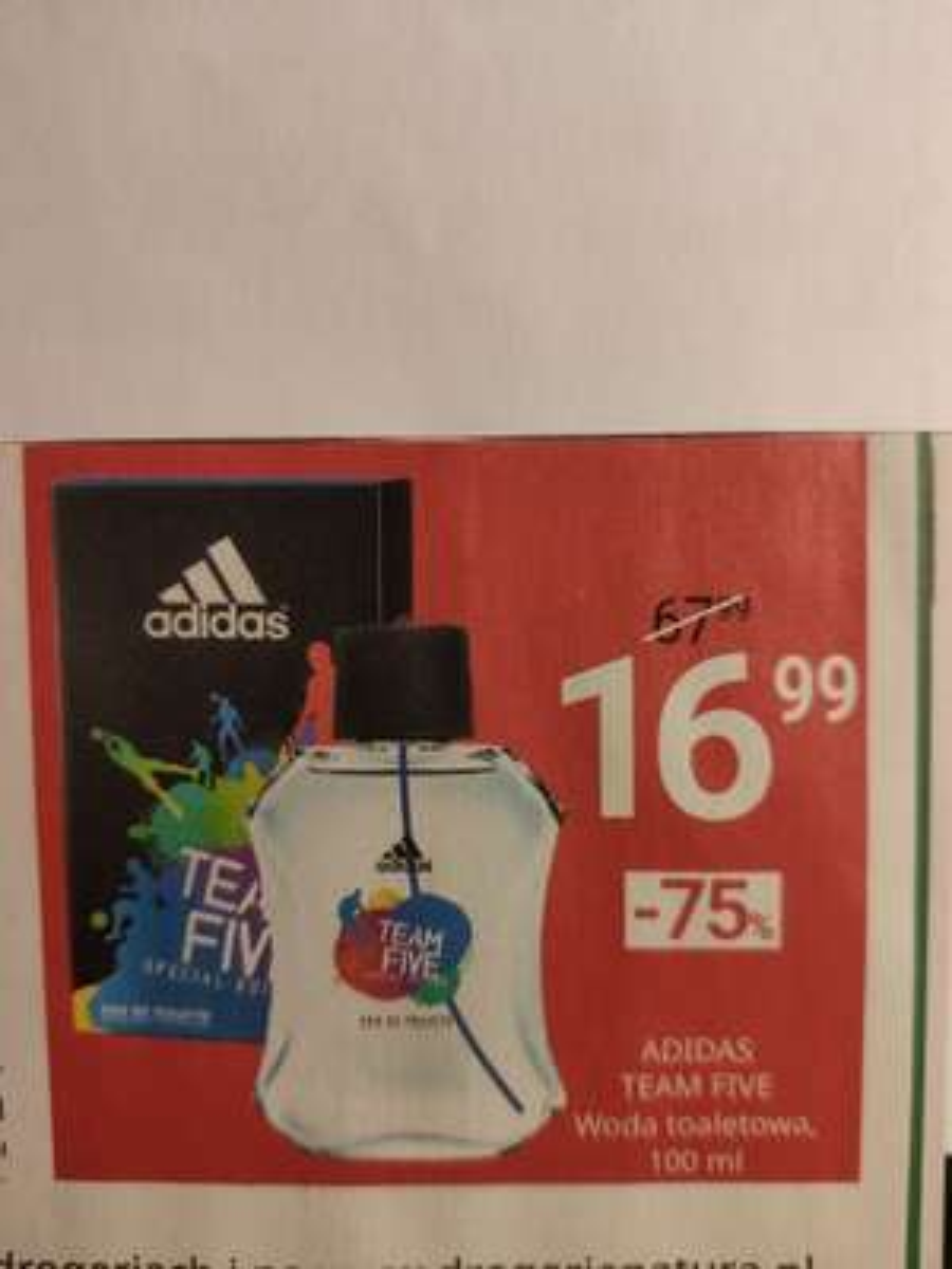 Adidas Team Five woda toaletowa 100 ml Drogeria Natura