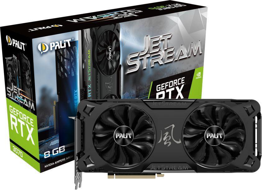 Karta graficzna Palit GeForce RTX 3070 JetStream 8GB GDDR6