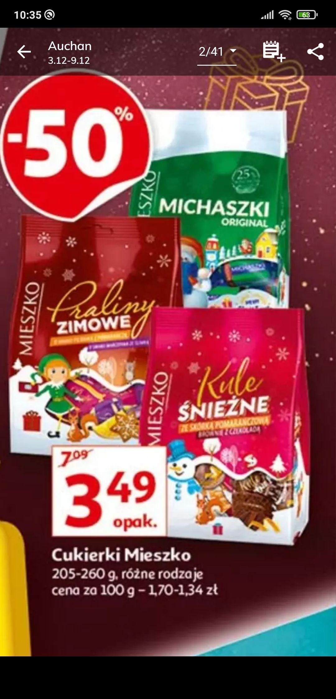 Cukierki Mieszko Auchan