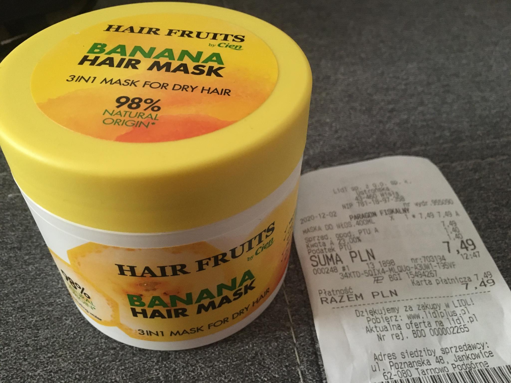 BANANA HAIR MASK 50% taniej