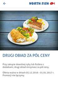 Drugi obiad -50% @North Fish
