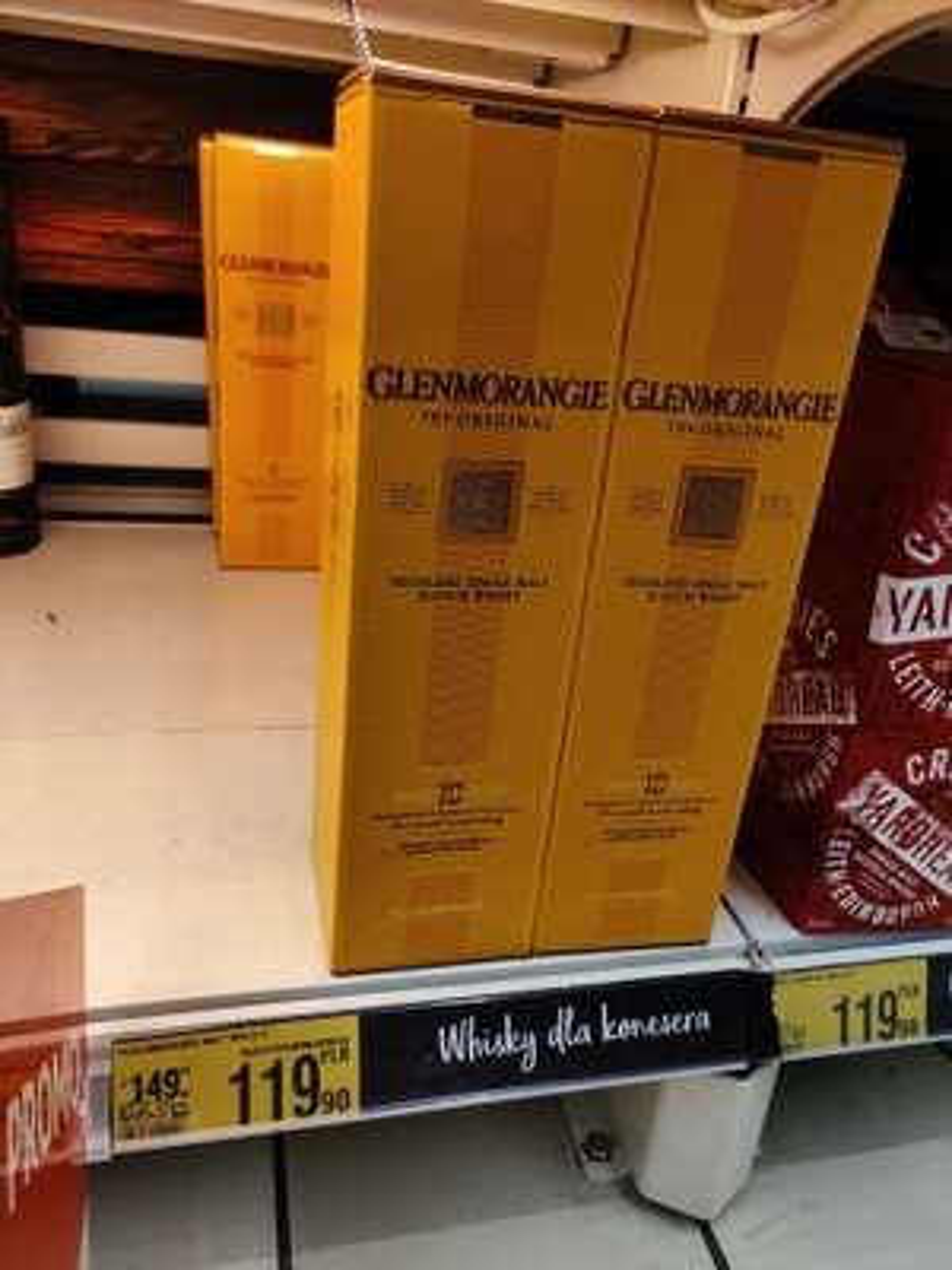 Whisky Glenmorangie 10Y i Glenlivet 12Y