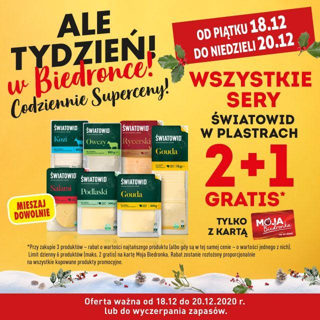 Wszystkie Sery Światowid 2+1 gratis - Biedronka