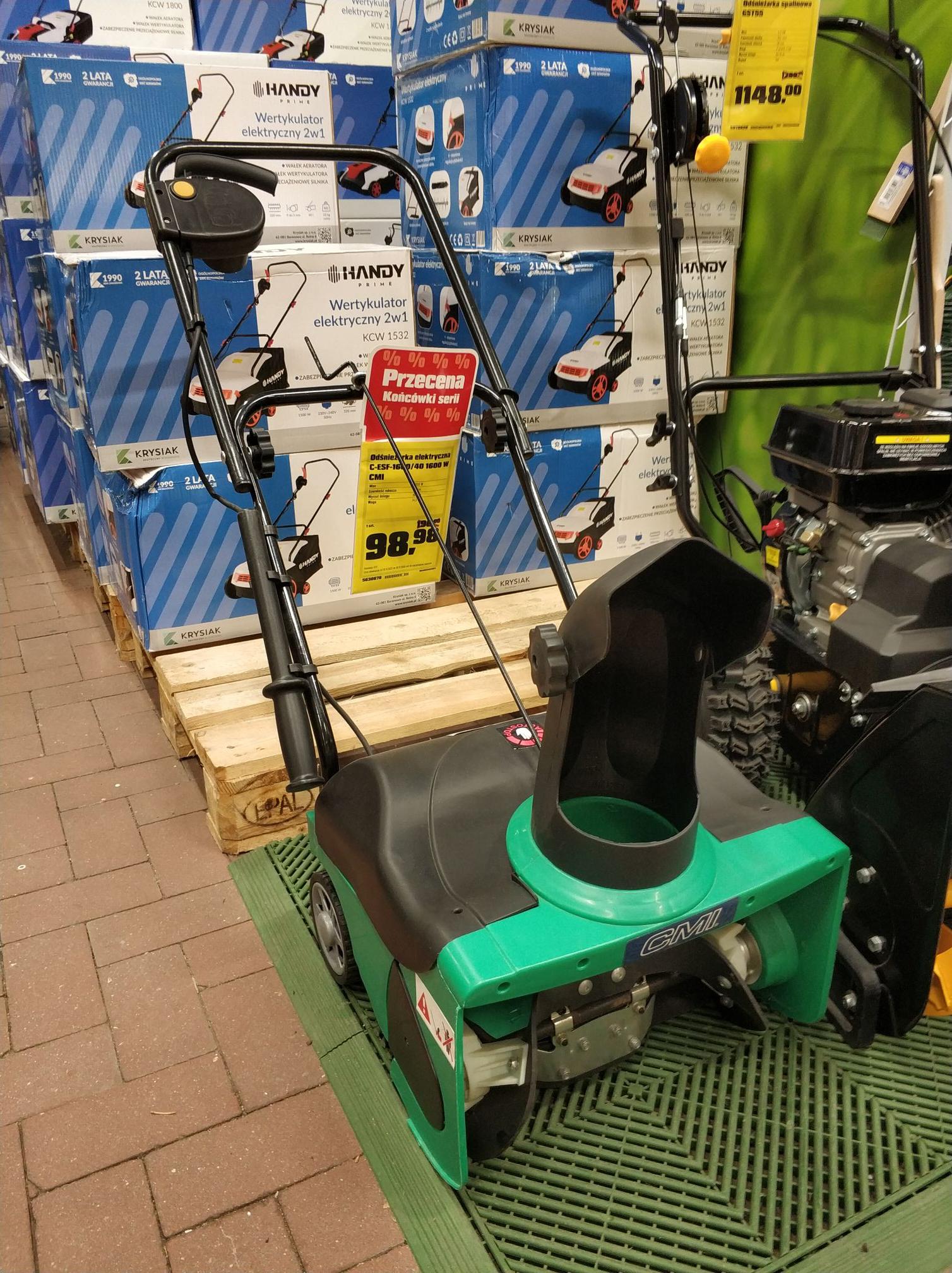 Odśnieżarka elektryczna w Obi