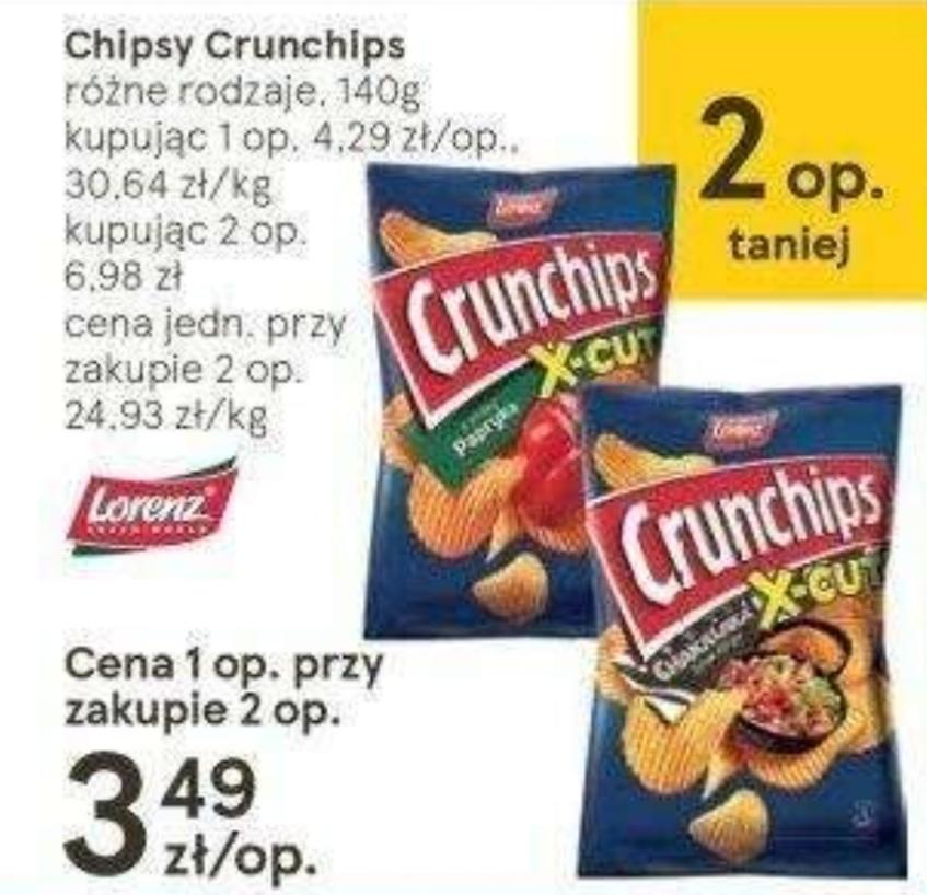 Chipsy Crunchips różne rodzaje 140g. w Tesco, cena przy zakupie 2 opakowań 3,49 za szt.