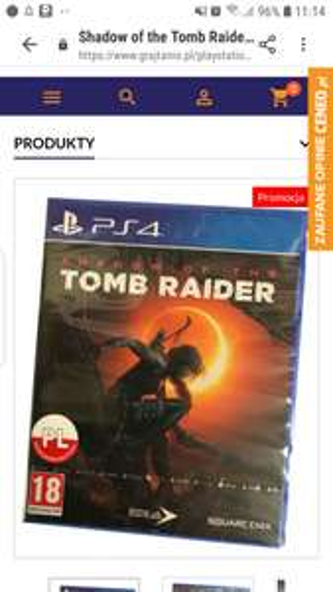 Shadow of the Tomb Raider (PS4) PO POLSKU