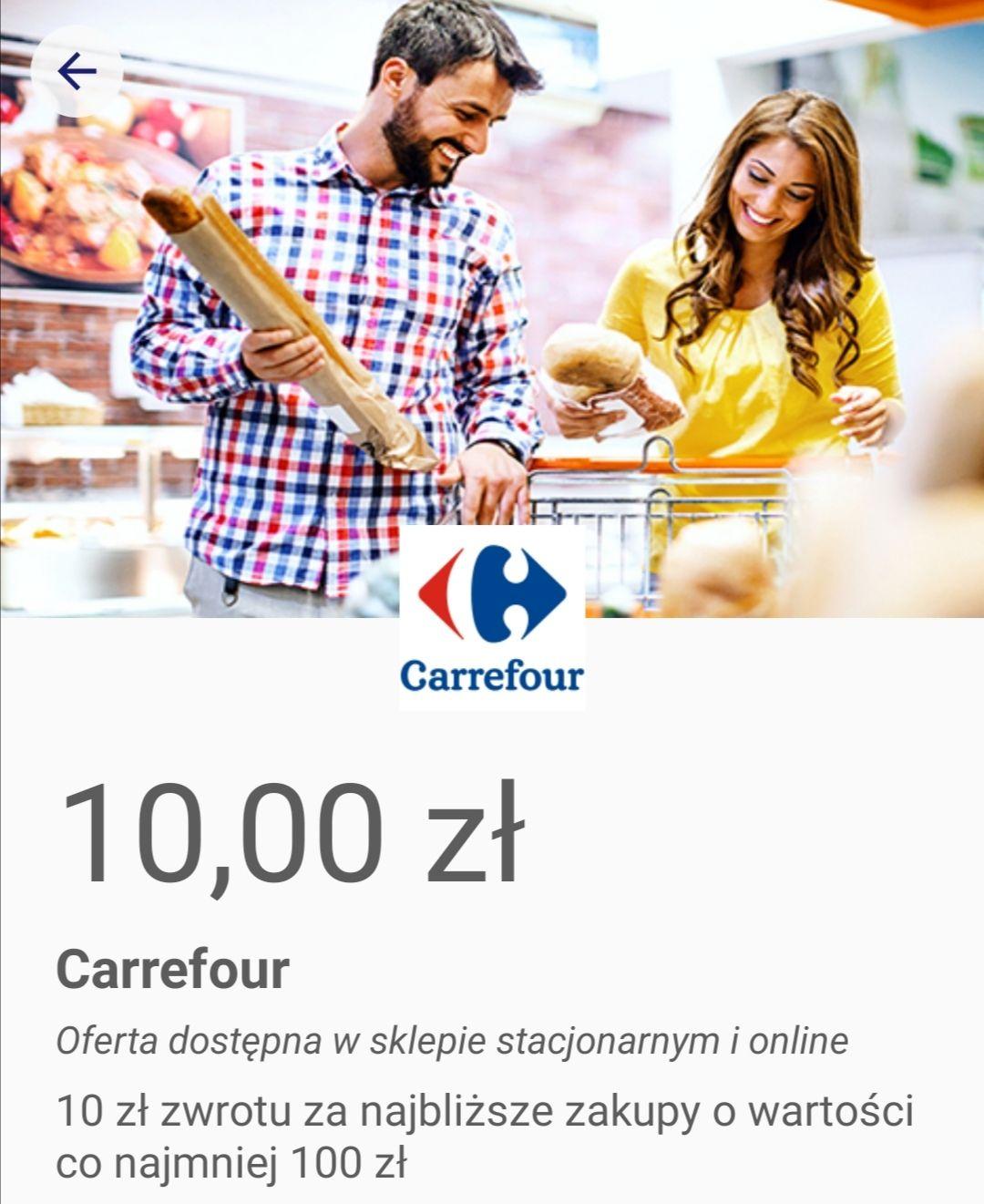 Carrefour 10 zł zwrotu od Visa Oferty. Dodatkowo w weekendy kupon - 10% na zakupy w aplikacji mobilnej.