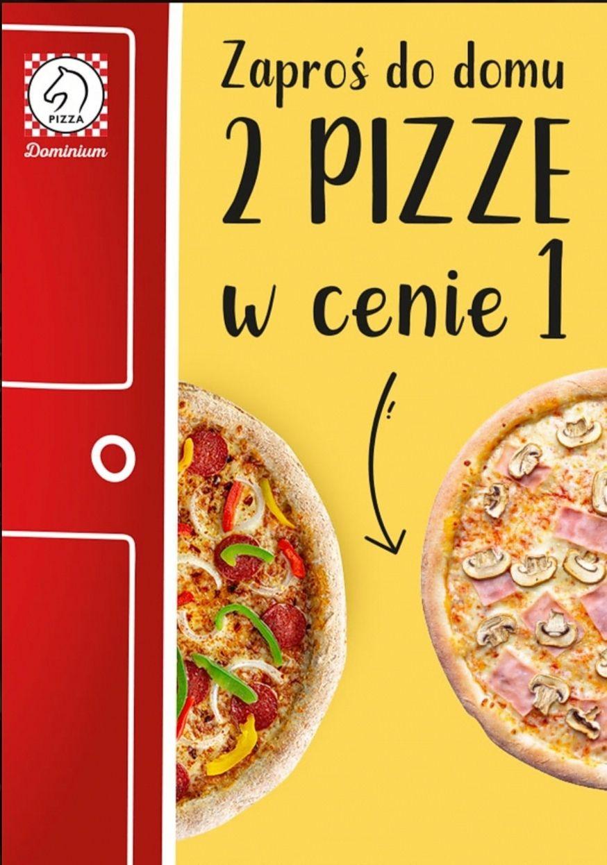 Pizza Dominium 2 pizze w cenie 1. Obowiązuje w dostawie i lokalu.
