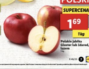 Polskie jabłka Gloster lub Idared @Lidl