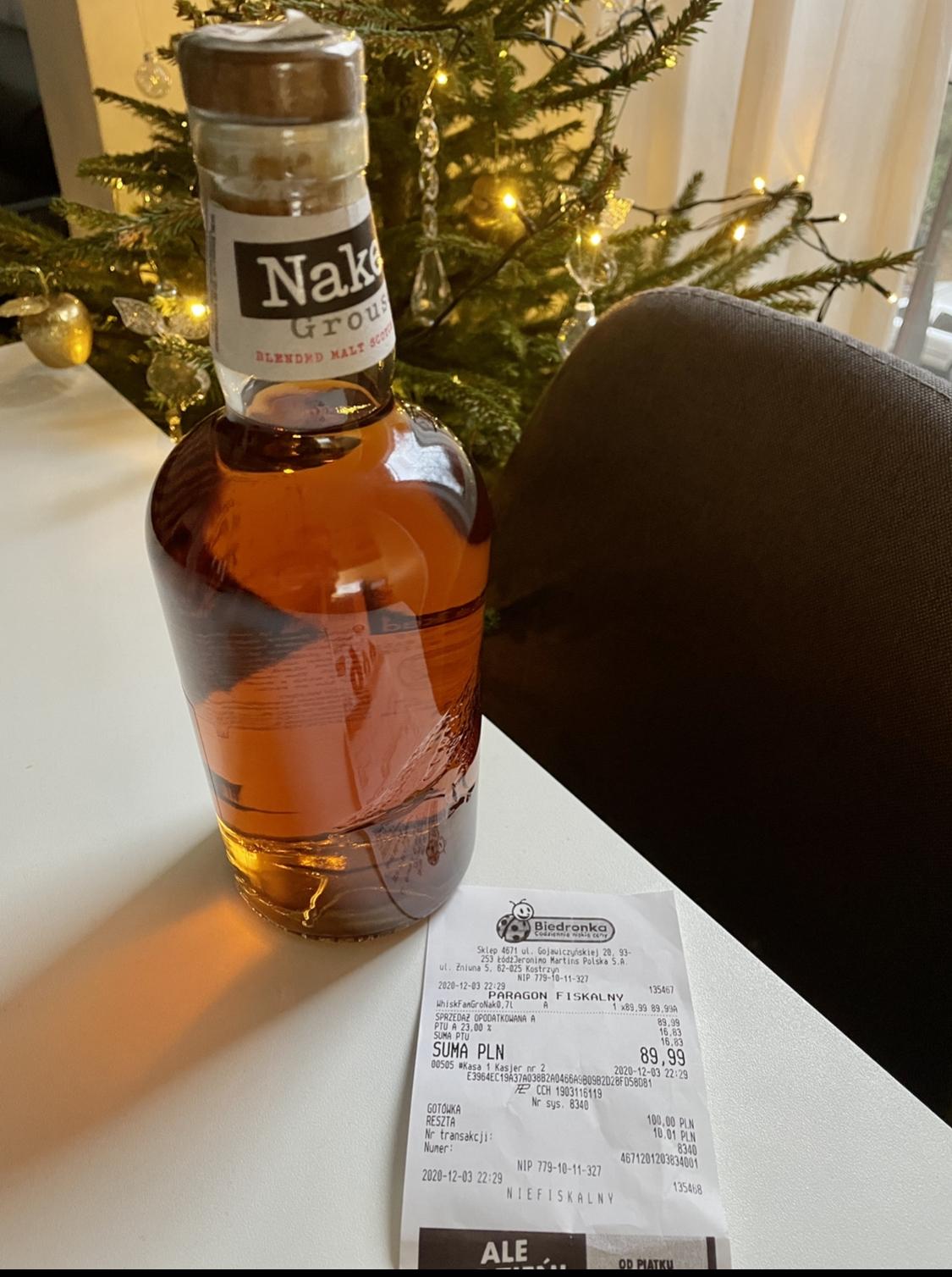 Whisky Naked Grouse Blended Malt 0.7l - Biedronka