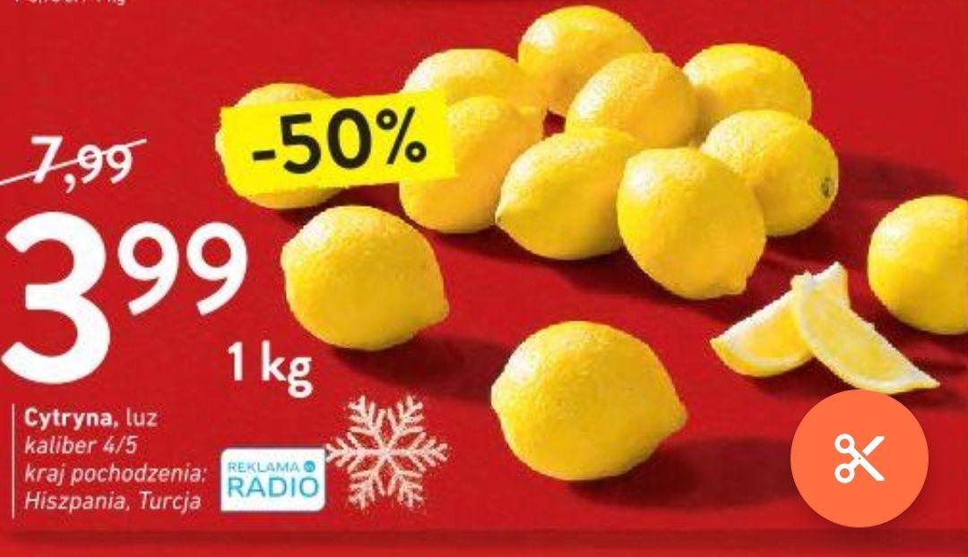 Cytryny w Intermarche 3,99 zł/kg
