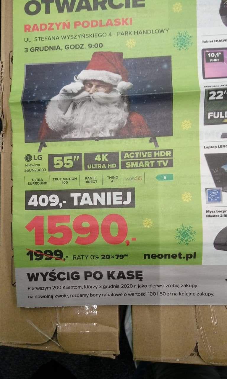 TV LG55UN70003 w NEONET.