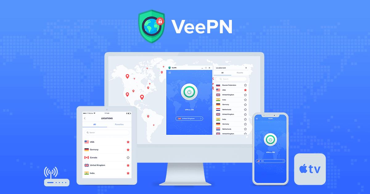 6 miesięcy darmowego VeePN VPN [nieograniczony ruch, 5 urządzeń]