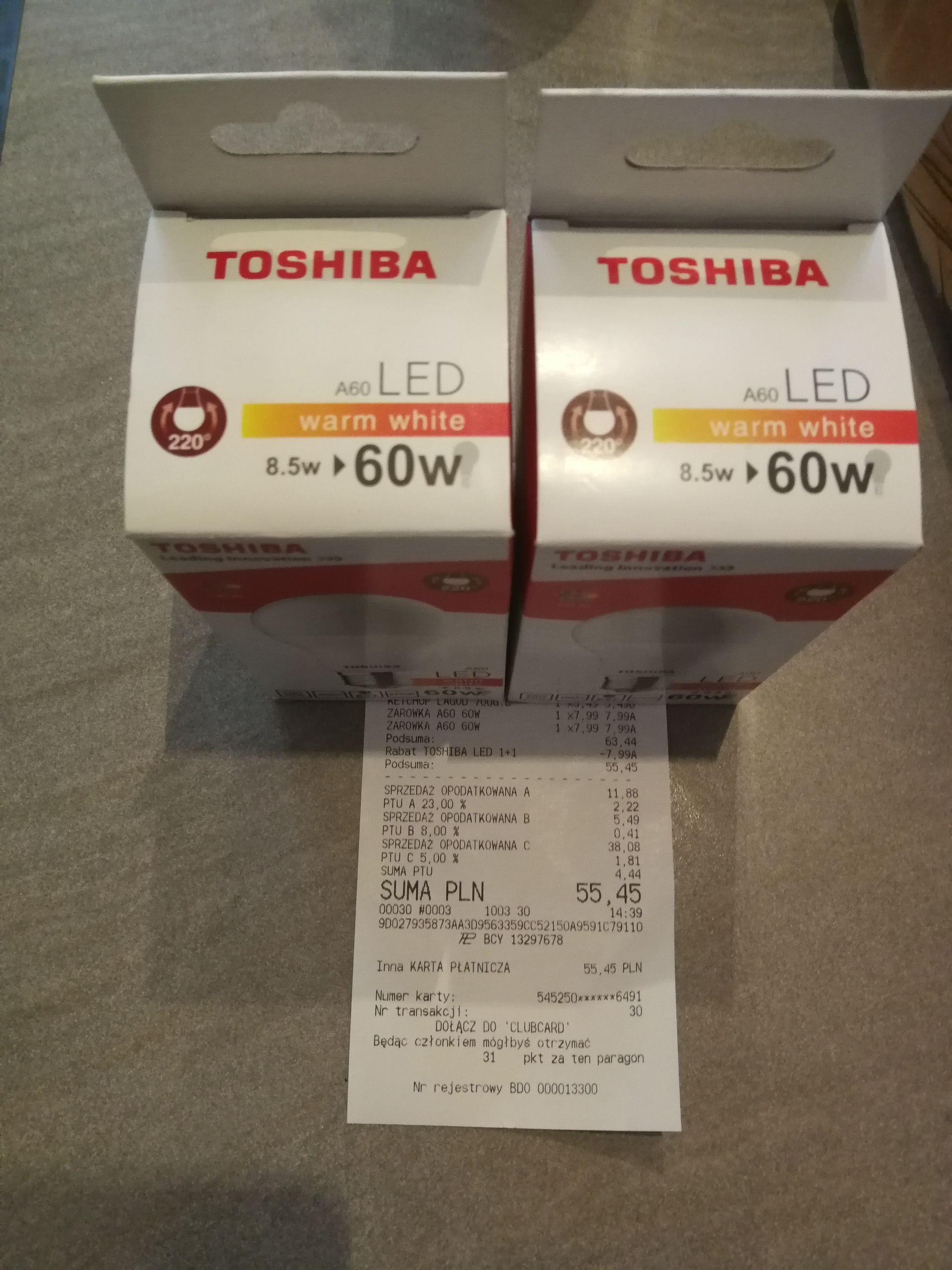 Żarówka Led Toshiba 2 w cenie 1